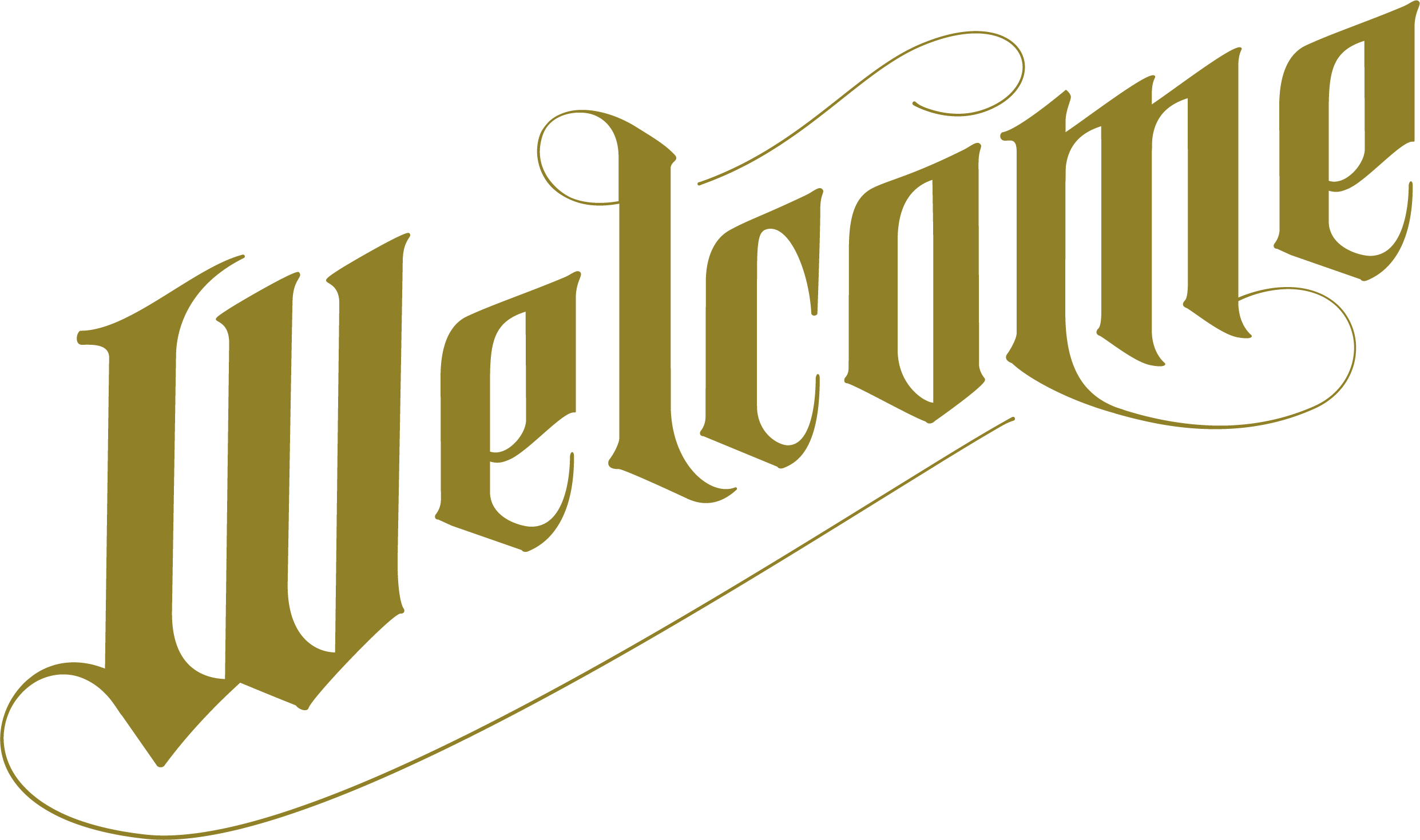 gothic welcome text